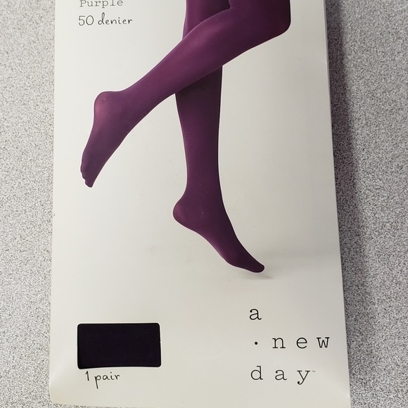 1c5cce4d0 a new day Accessories | Womens Opaque Tights Purple | Poshmark
